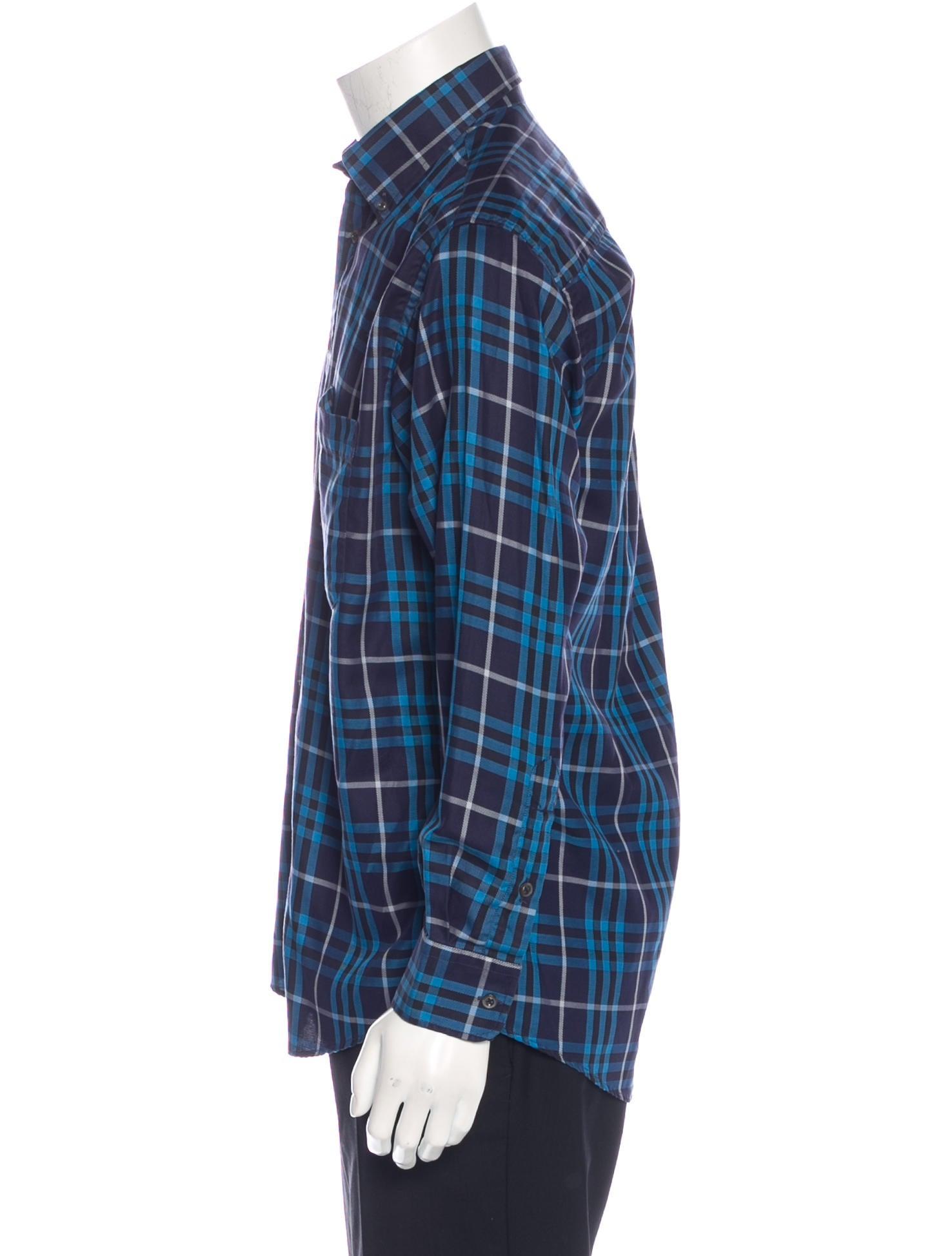 Burberry London Plaid Woven Shirt Clothing Wburl24327