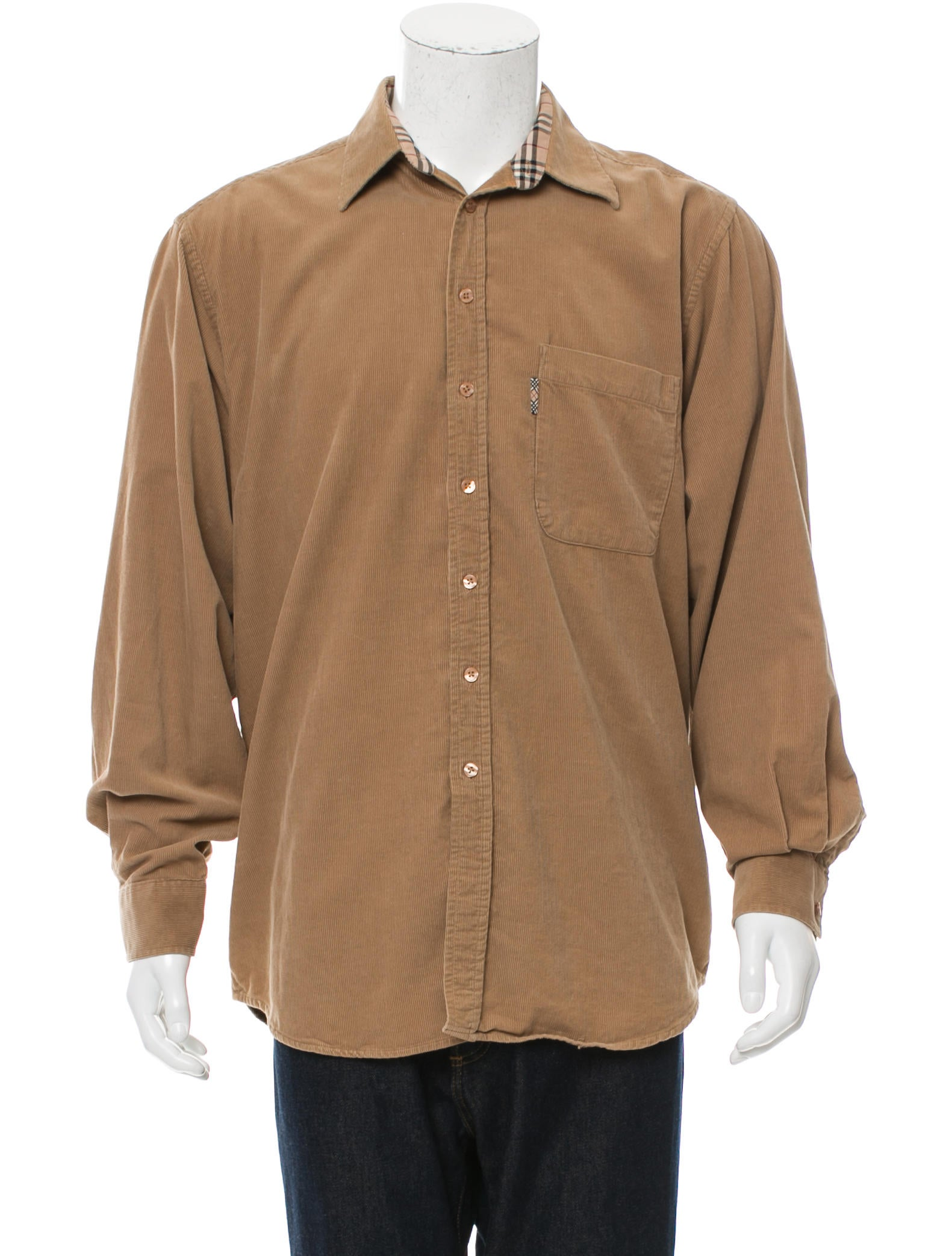 Burberry London Corduroy Button Up Shirt Clothing
