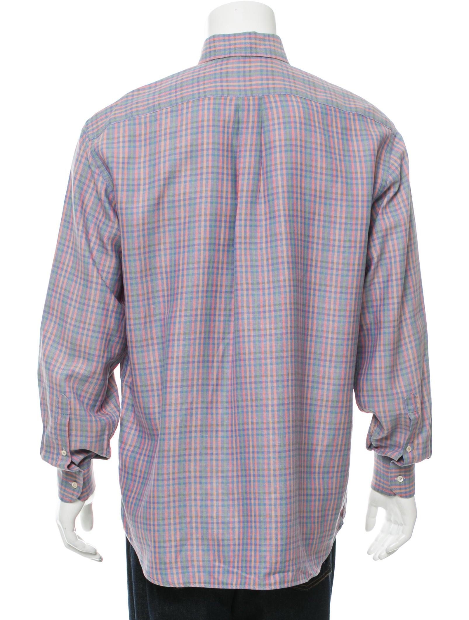 Burberry London Plaid Button Up Shirt Clothing