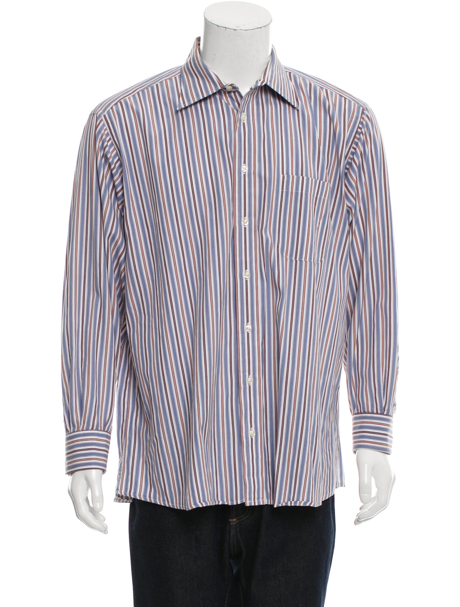 Burberry London Striped Button Up Shirt Clothing
