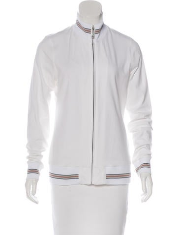 Burberry London Long Sleeve Zip-Up Sweater None