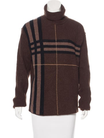 Burberry London Wool & Angora-Blend Exploded-Check Sweater None