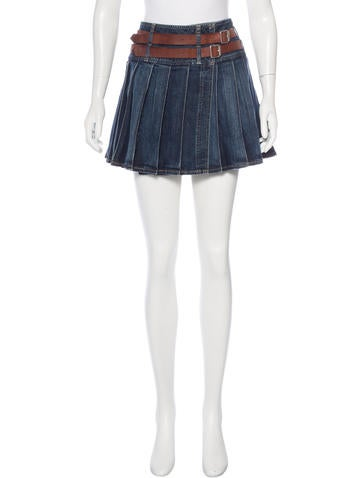 burberry pleated mini skirt clothing wburl24878