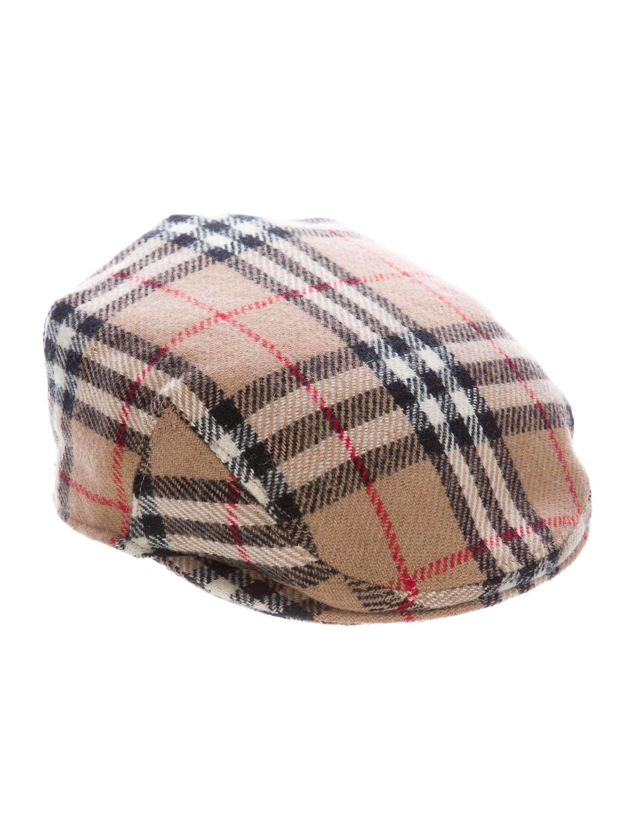 78f71a0a3ae Burberry London Nova Check Wool Newsboy Hat - Accessories ...