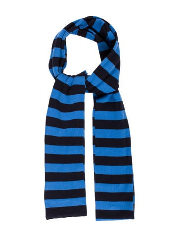 Burberry London Striped Knit Scarf None