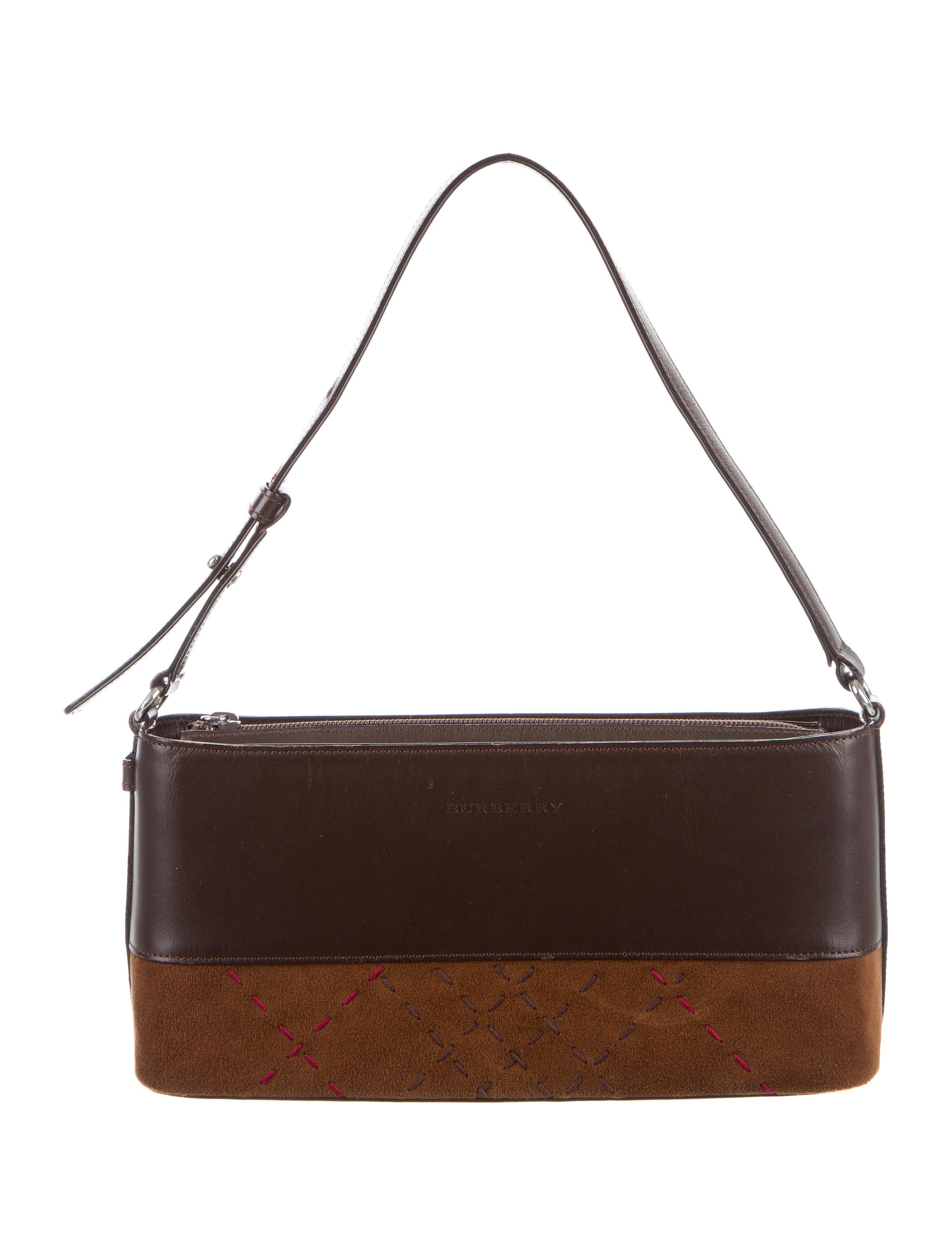 e11f4e676292 Burberry London Leather   Suede Shoulder Bag - Handbags - WBURL24986 ...