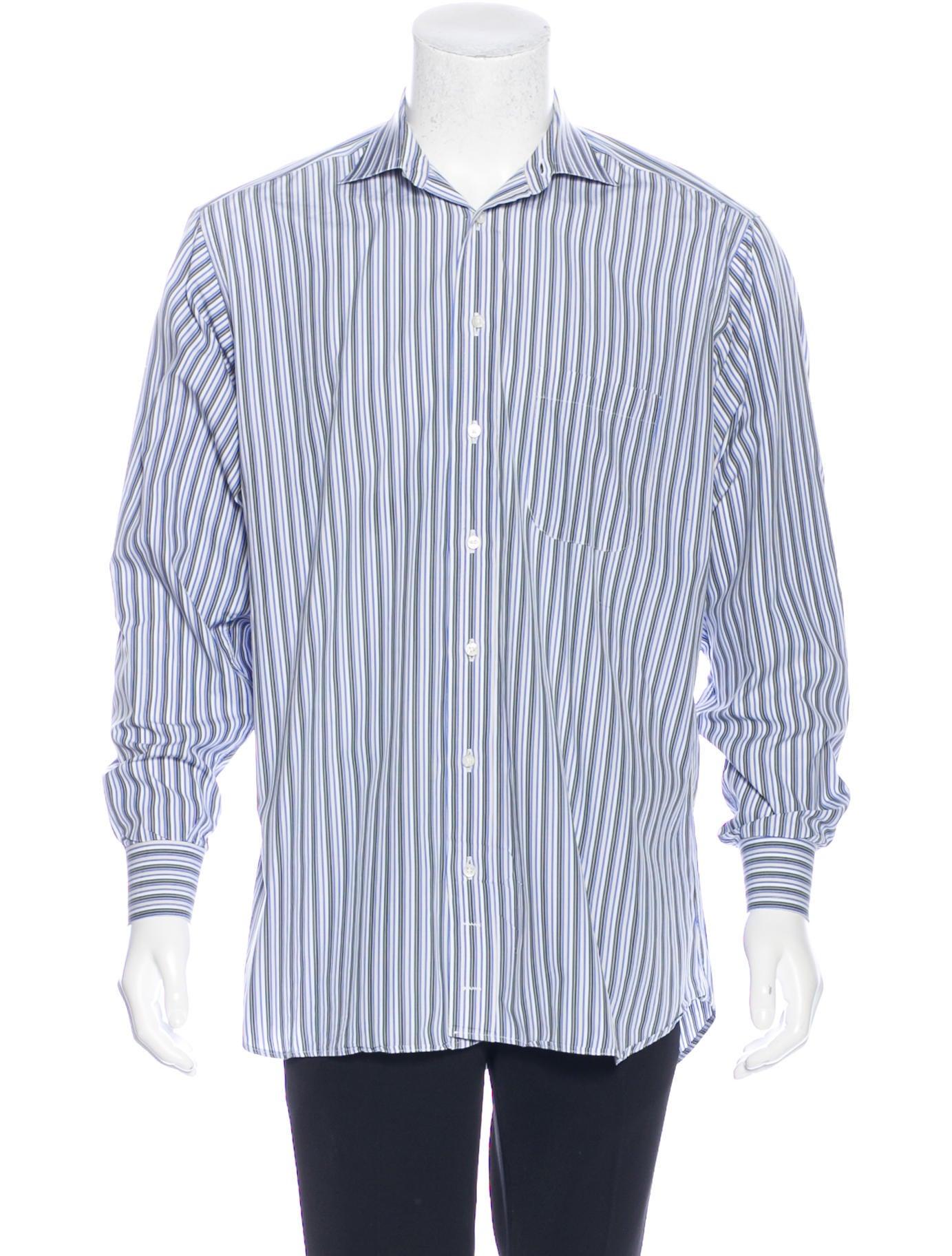 Burberry London Striped Dress Shirt Clothing