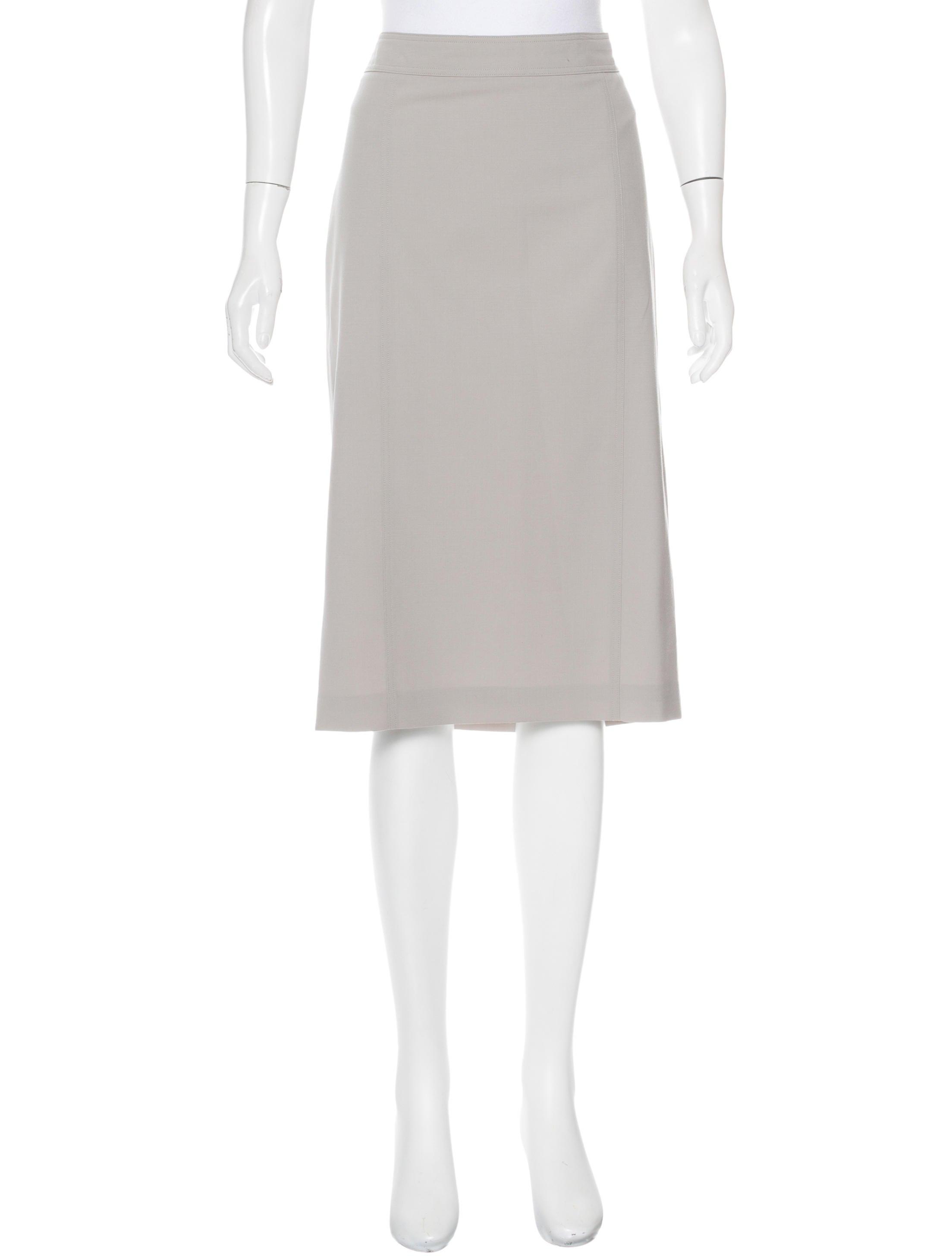 burberry wool knee length skirt clothing