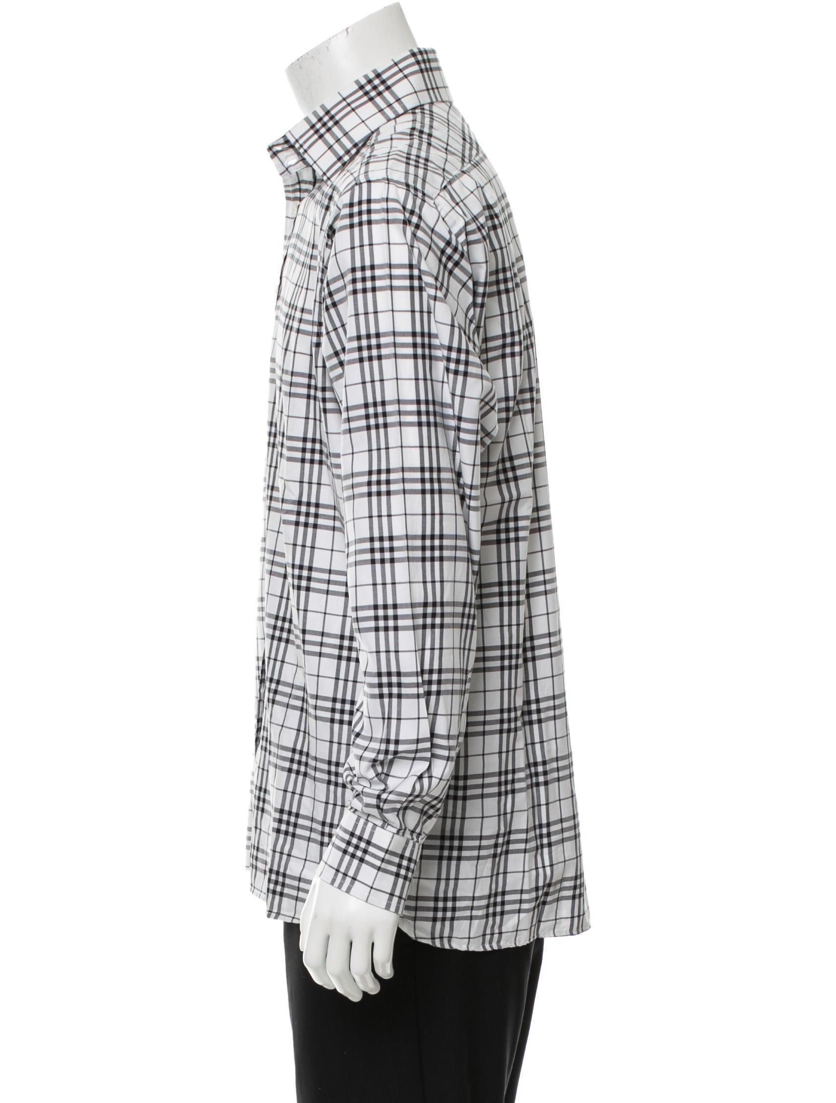 Burberry London Plaid Button-Up Shirt - Clothing ...