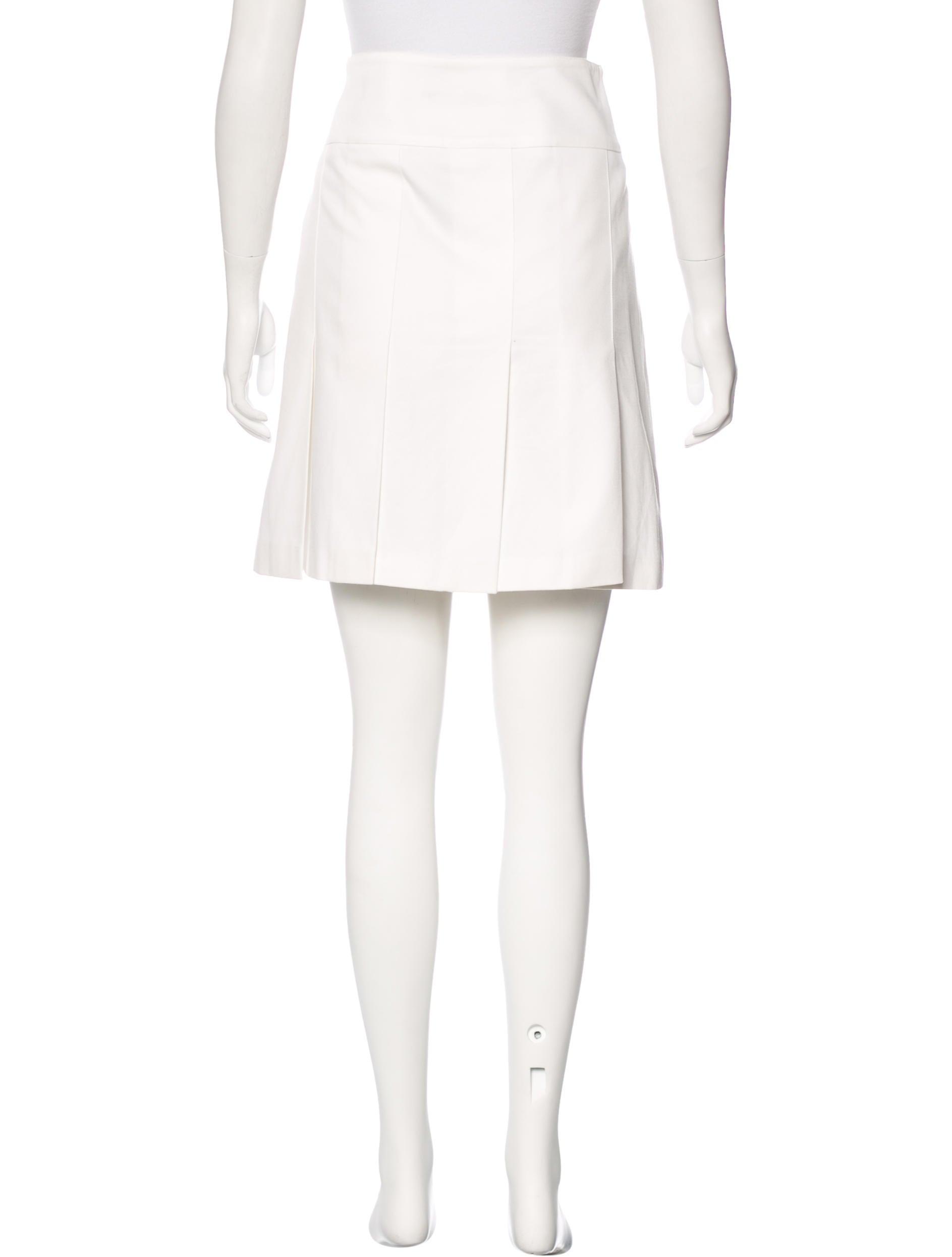 burberry pleated mini skirt clothing wburl25303