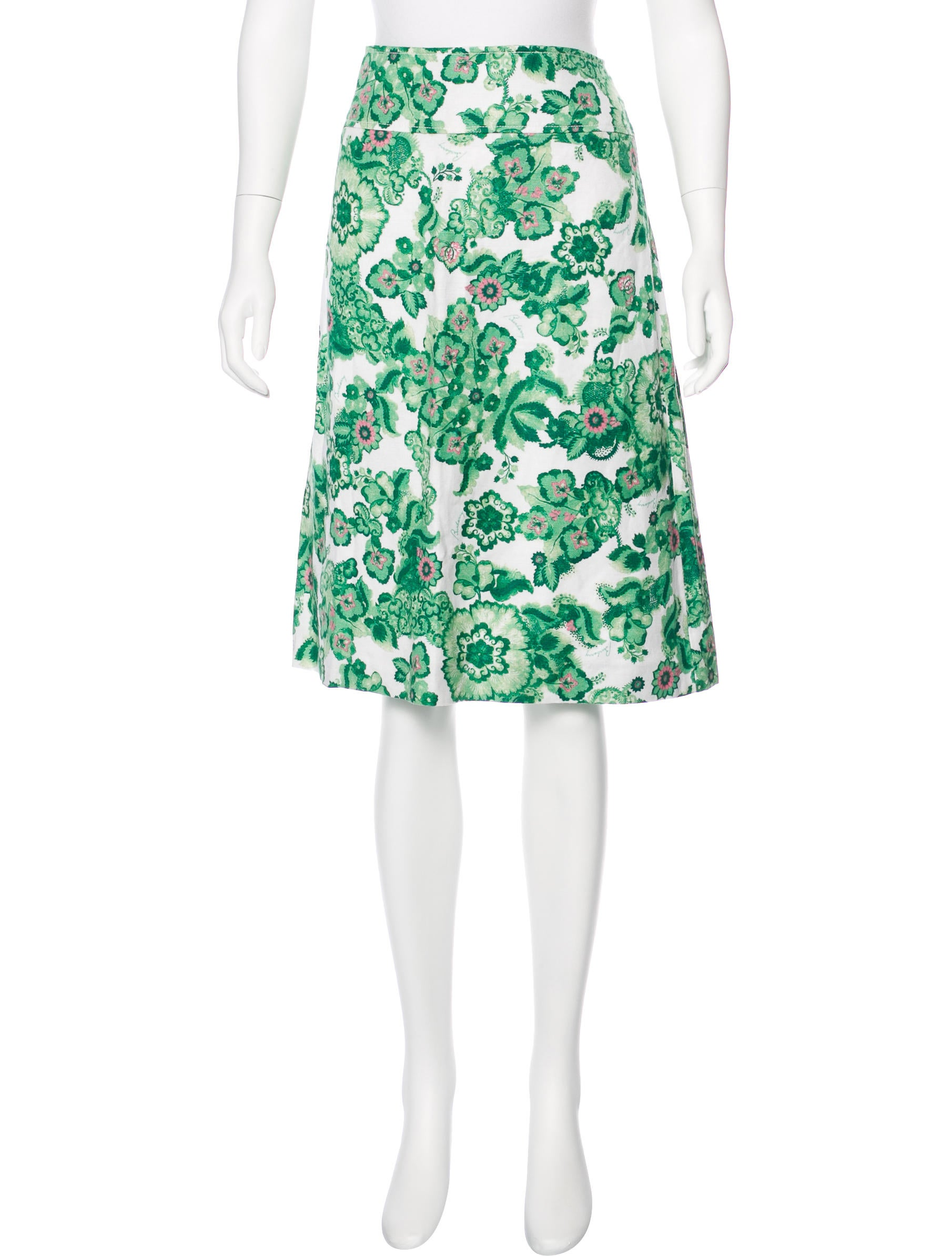 burberry floral knee length skirt w tags