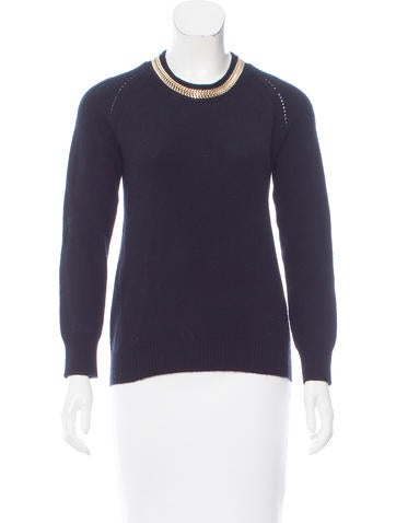 Burberry London Chain-Link Wool Sweater None
