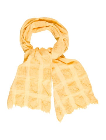 Burberry London Knit Raw-Edge Scarf None