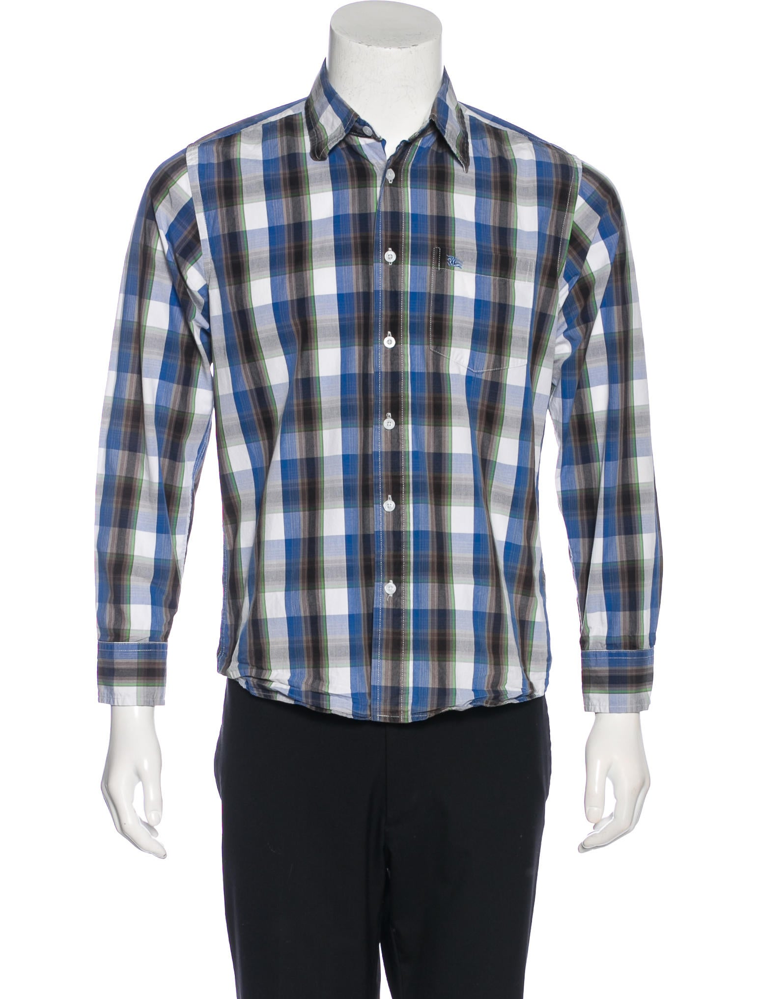Burberry London Plaid Embroidered Shirt Clothing
