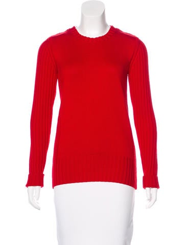 Burberry London Wool Rib Knit Sweater None