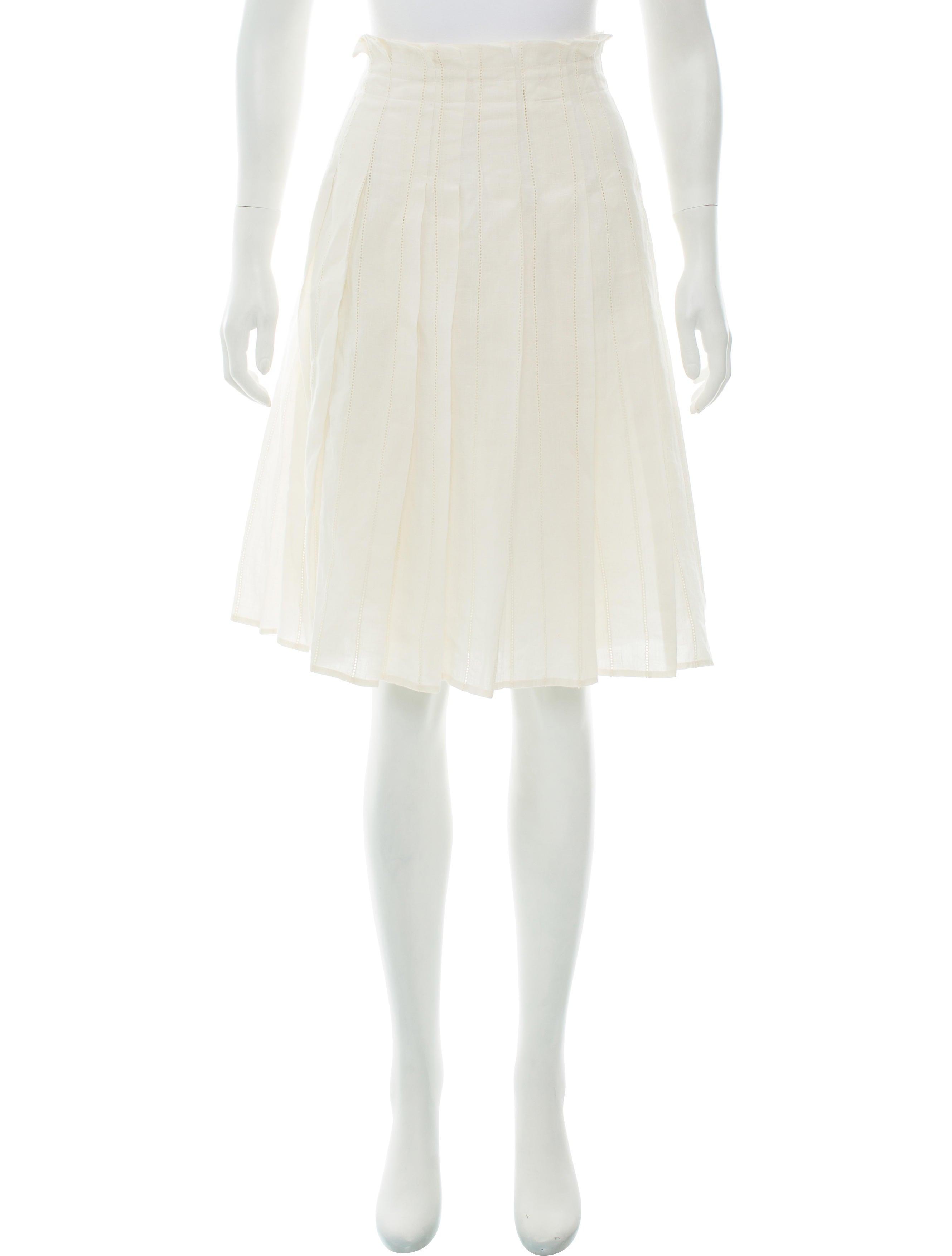 burberry linen knee length skirt clothing