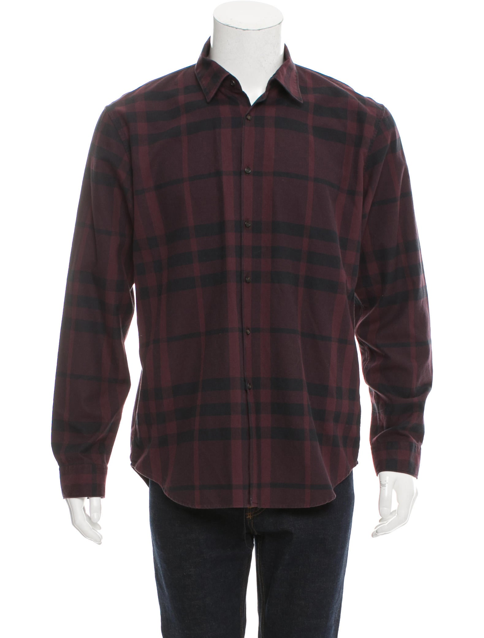 Burberry London Exploded Check Print Button Up Shirt