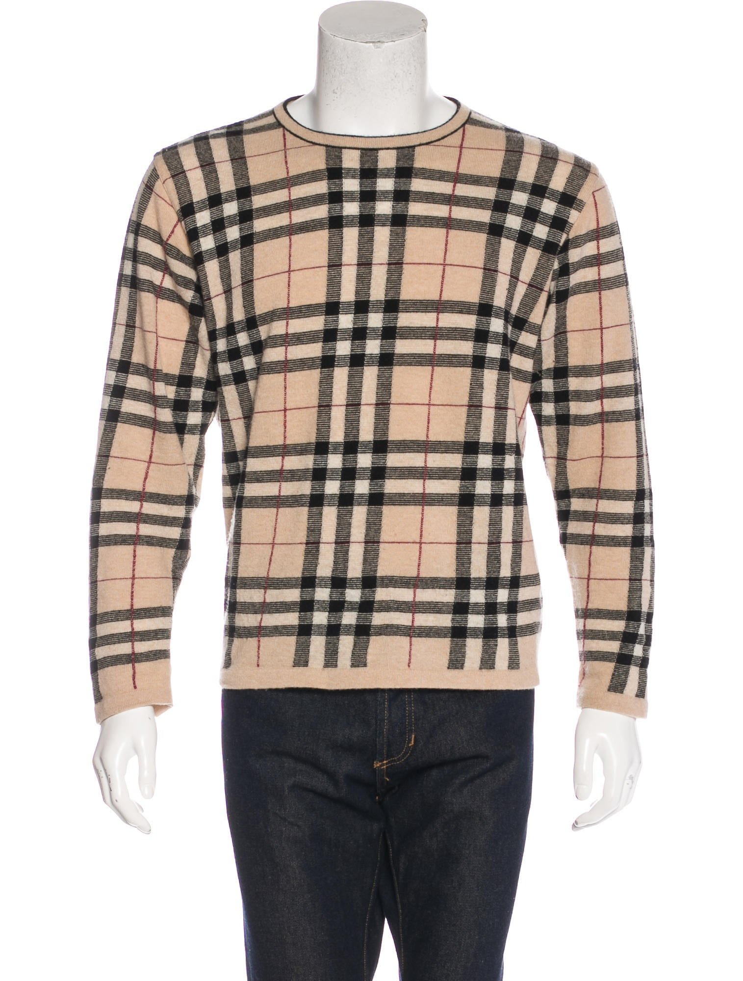 Burberry London Nova Check Wool Sweater Clothing  : WBURL262321enlarged from www.therealreal.com size 1515 x 1999 jpeg 332kB