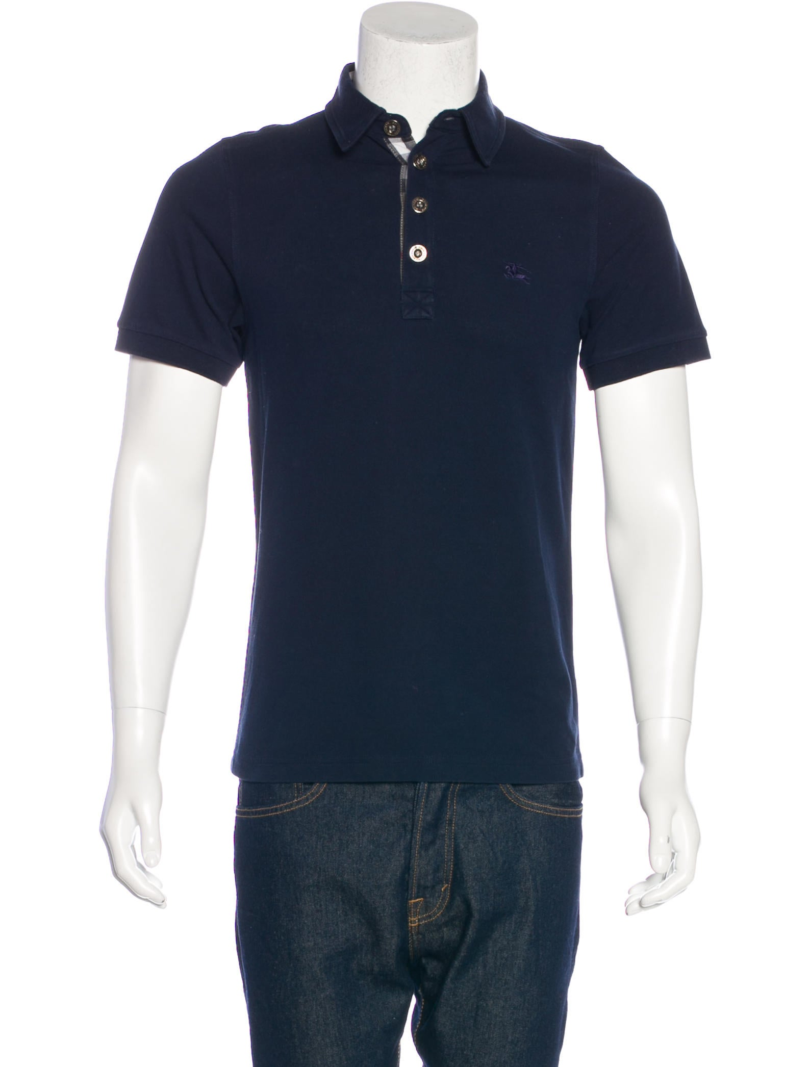 Burberry london embroidered polo shirt clothing for Polo shirts with embroidery