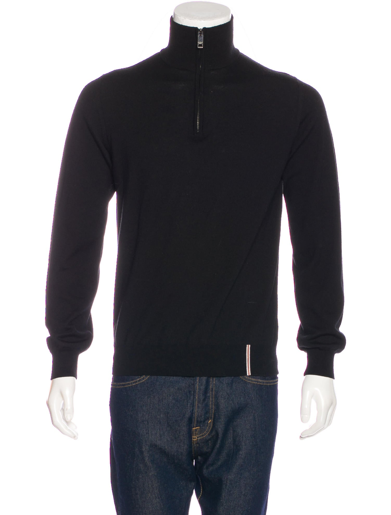 Burberry London Wool Half-Zip Sweater - Clothing - WBURL26960 | The RealReal