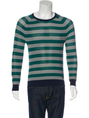Burberry London Striped Crew Neck Sweater None
