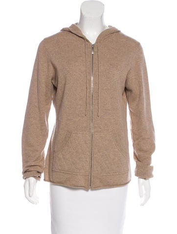 Burberry London Cashmere Zip-Up Sweater None