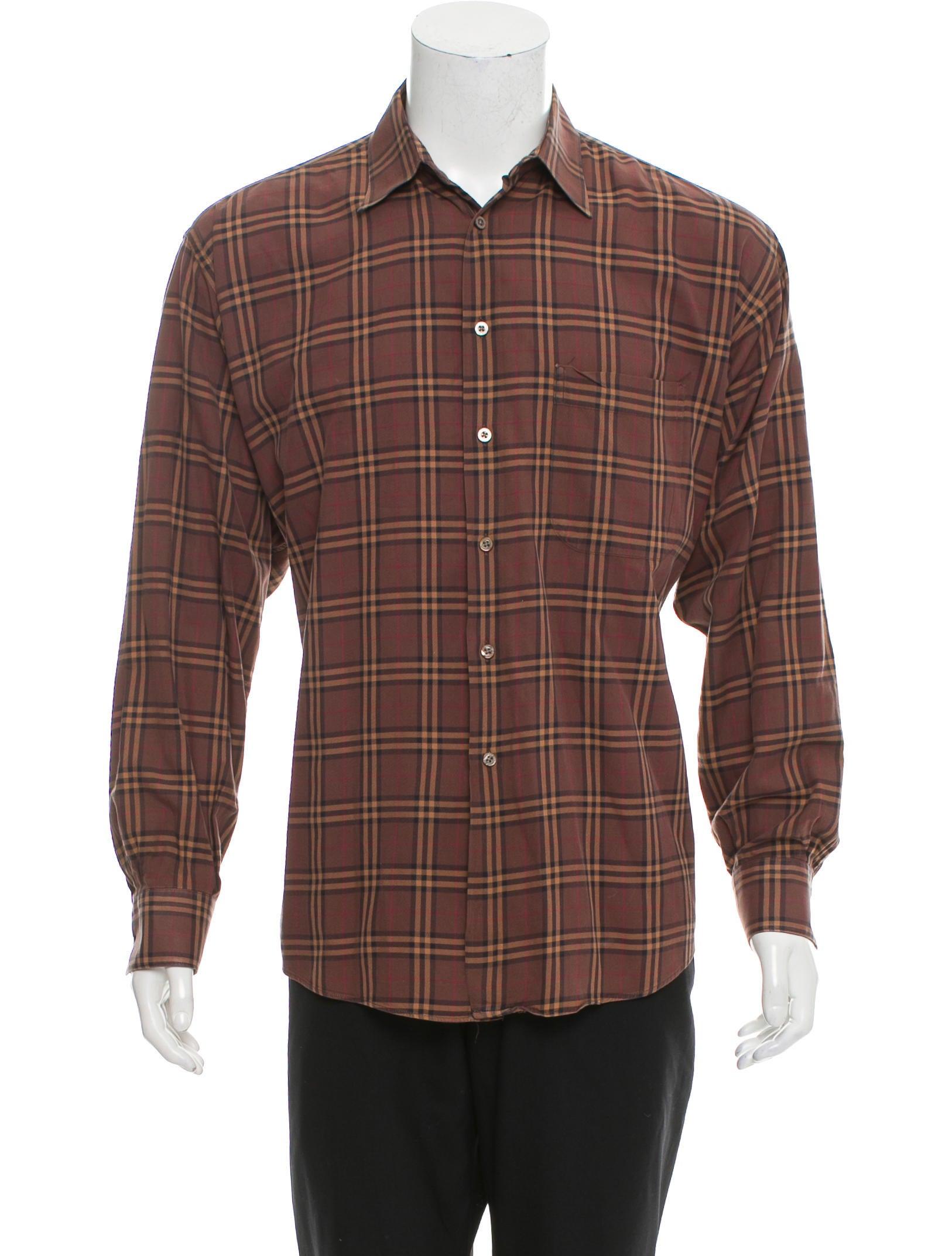 Burberry London Check Print Button Up Shirt Clothing