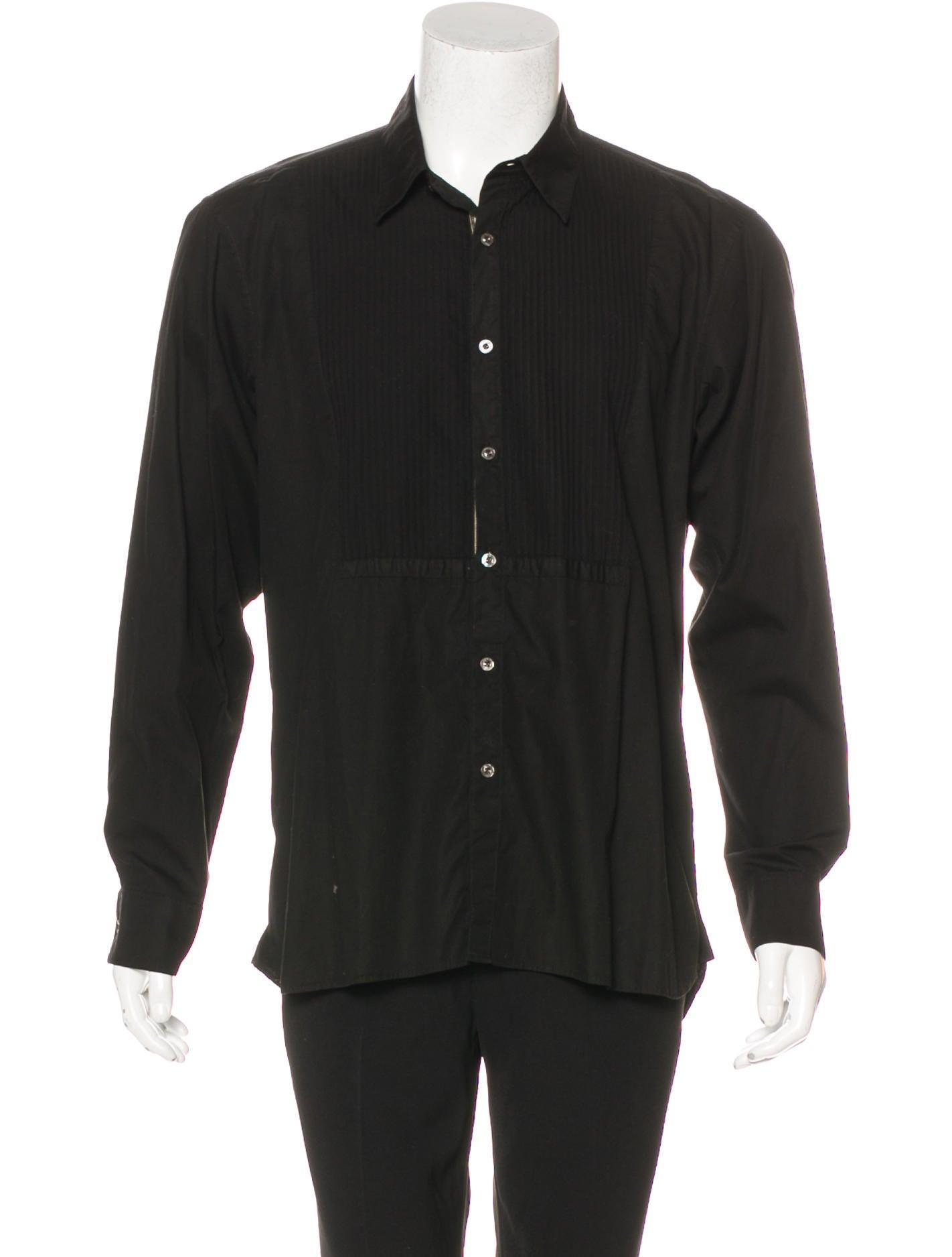 Burberry London Pleated Dress Shirt Clothing