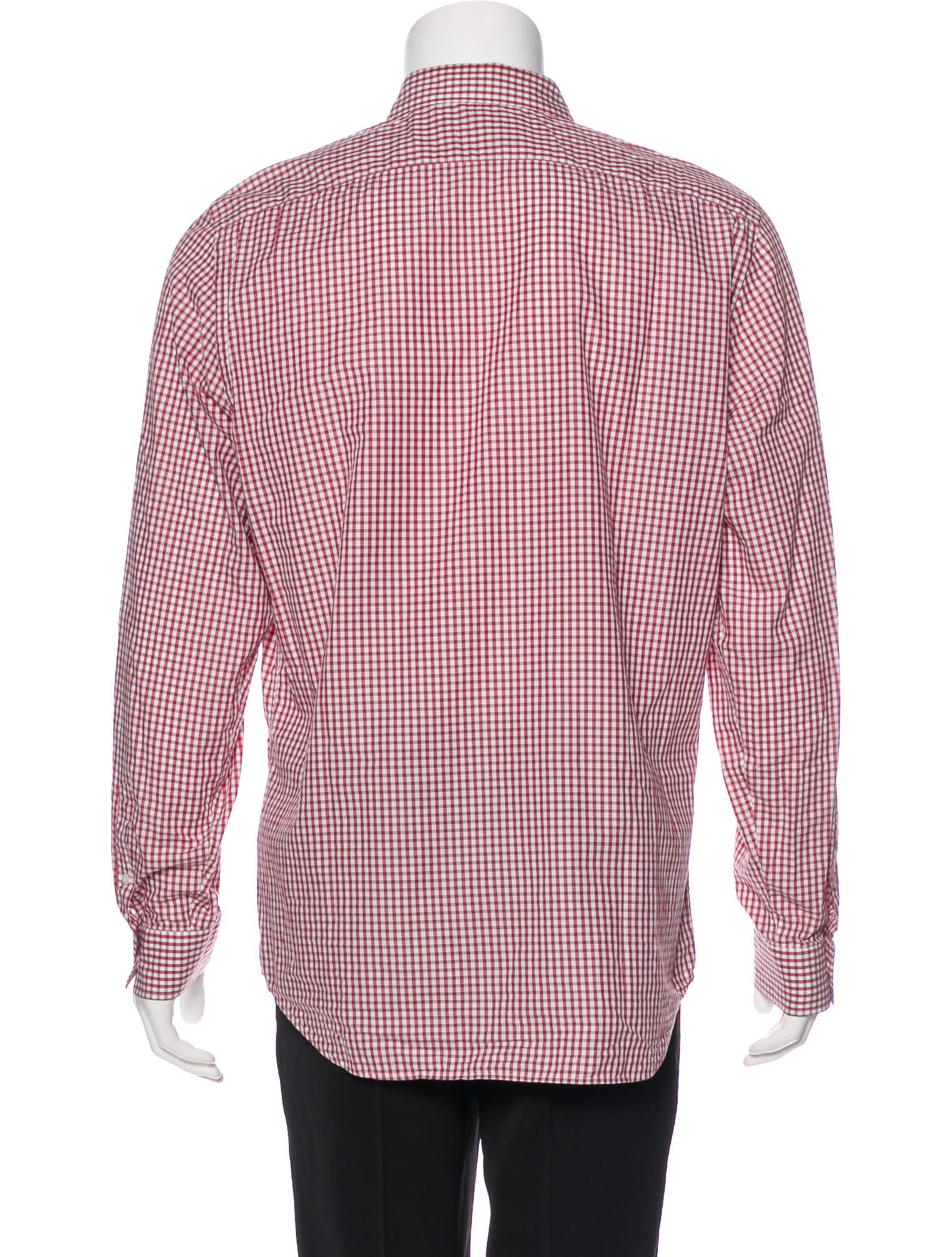 Burberry London Gingham Woven Shirt Mens Shirts