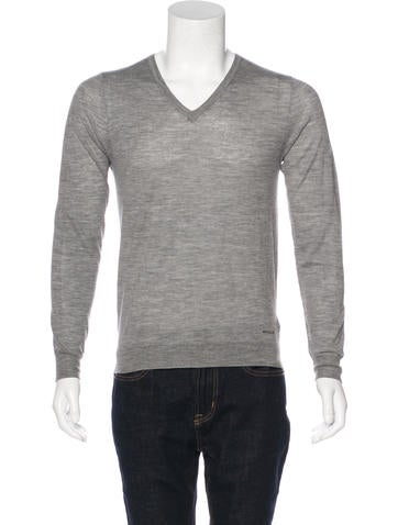 Burberry London Wool V-Neck Sweater None