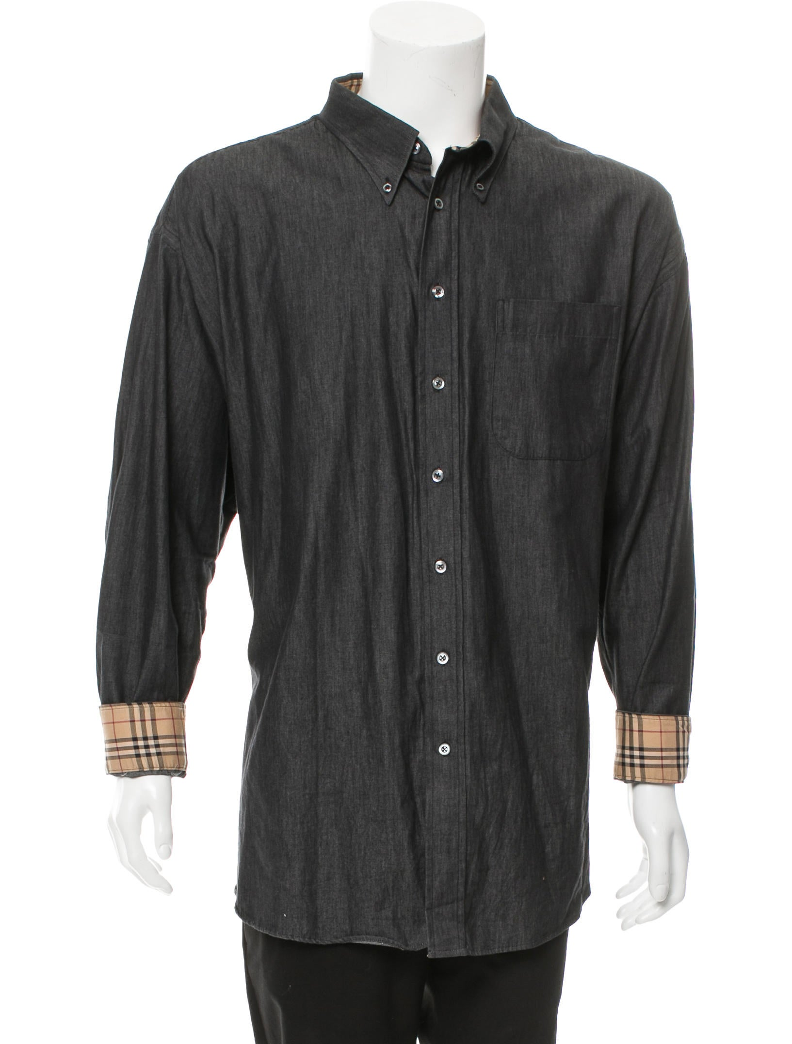 Burberry London Woven Button Up Shirt Clothing