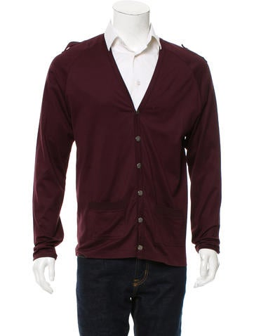 Burberry London Rib Knit V-Neck Cardigan None