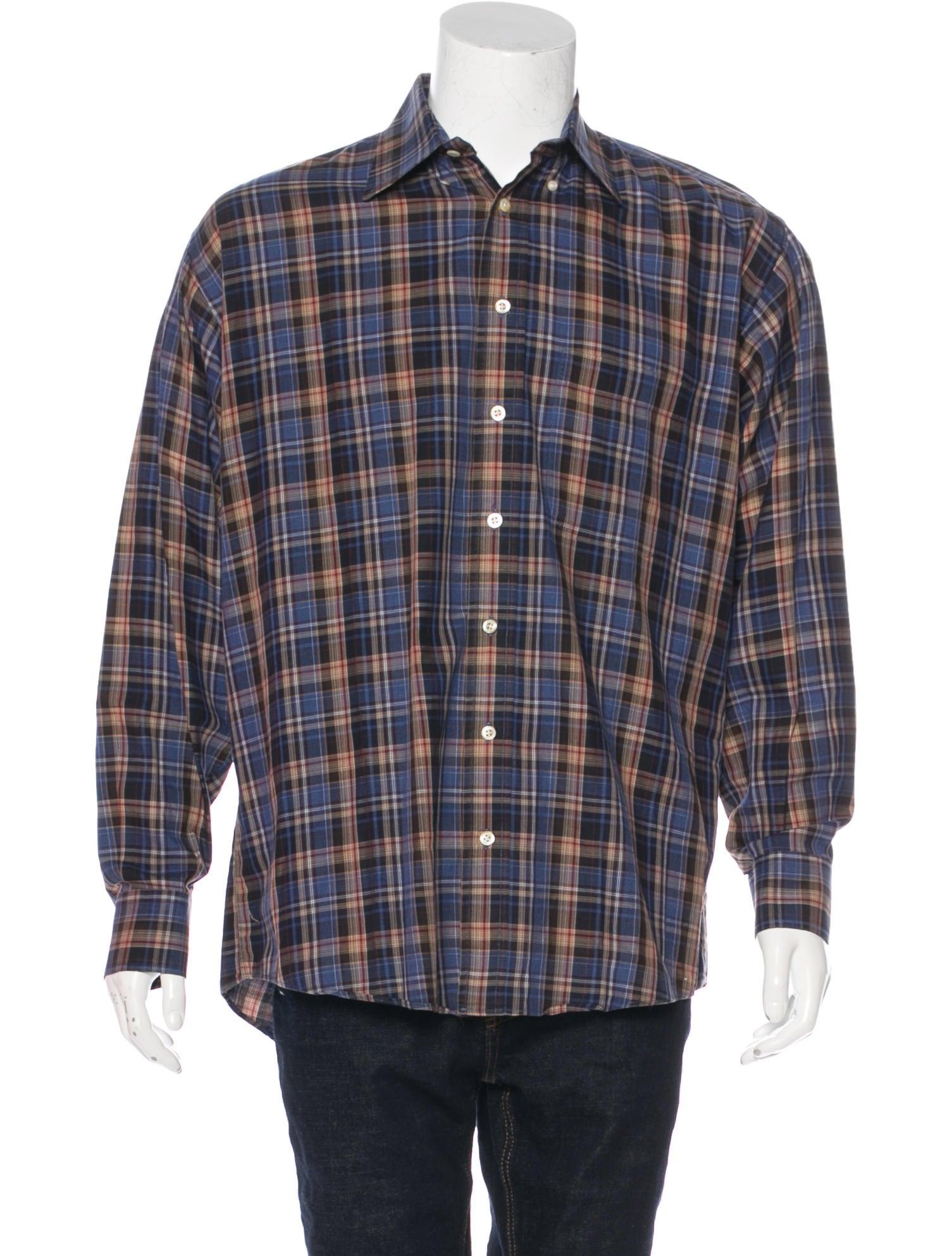 Burberry London Plaid Woven Shirt Clothing Wburl28665