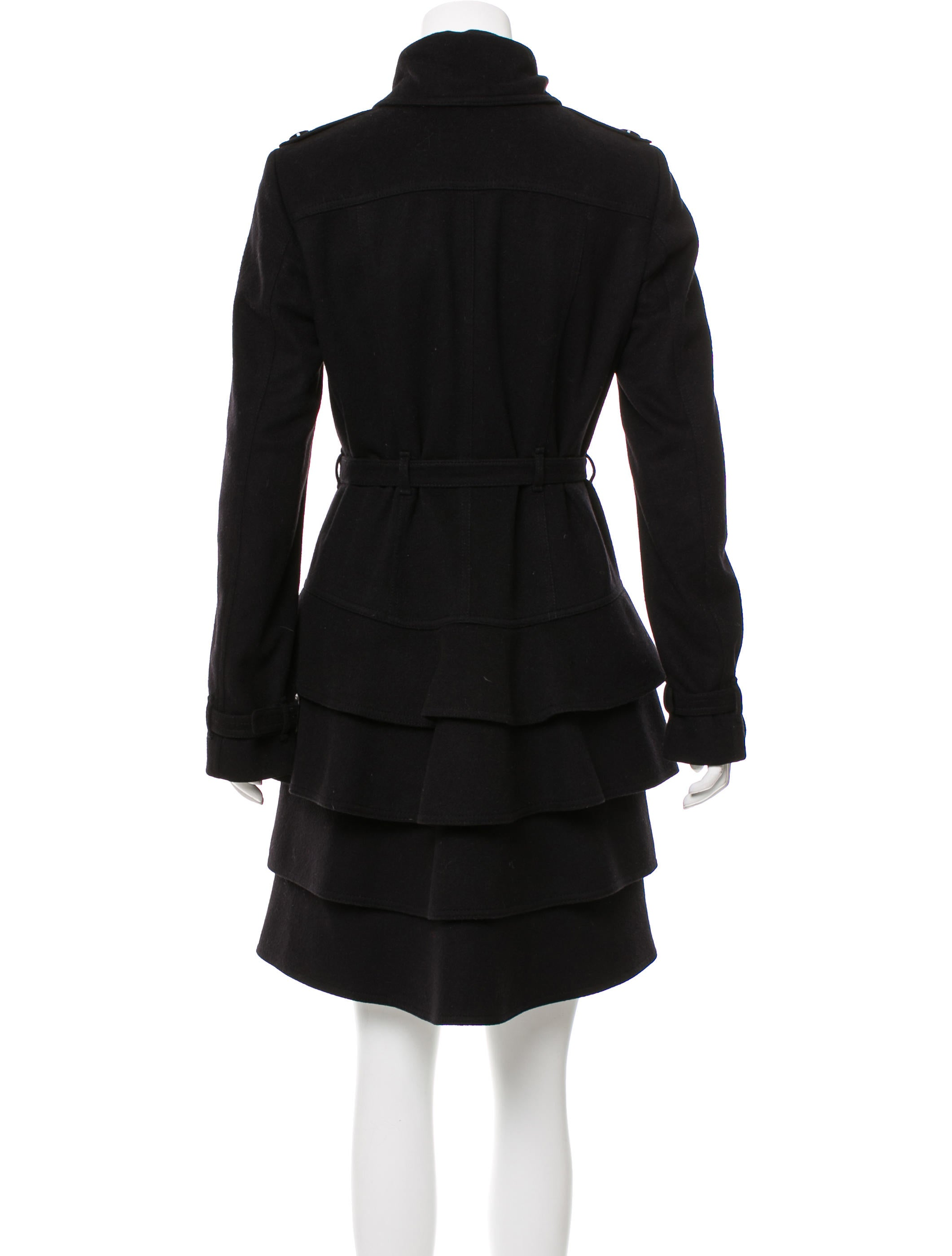 122badbb5feb5 Burberry London Belted Wool Coat - Clothing - WBURL28706