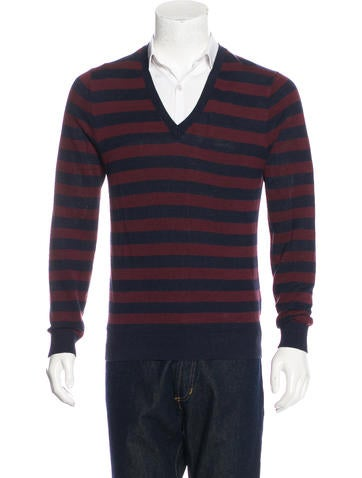 Burberry London Silk-Blend V-Neck Sweater None