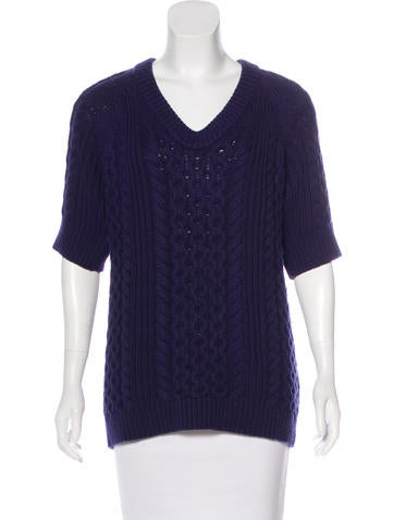 Burberry London Cashmere-Blend Sweater None
