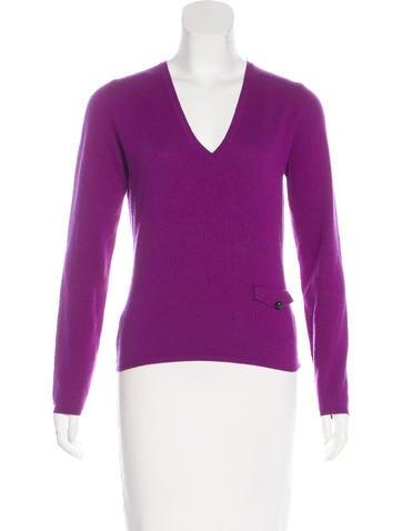 Burberry London V-Neck Cashmere Sweater None