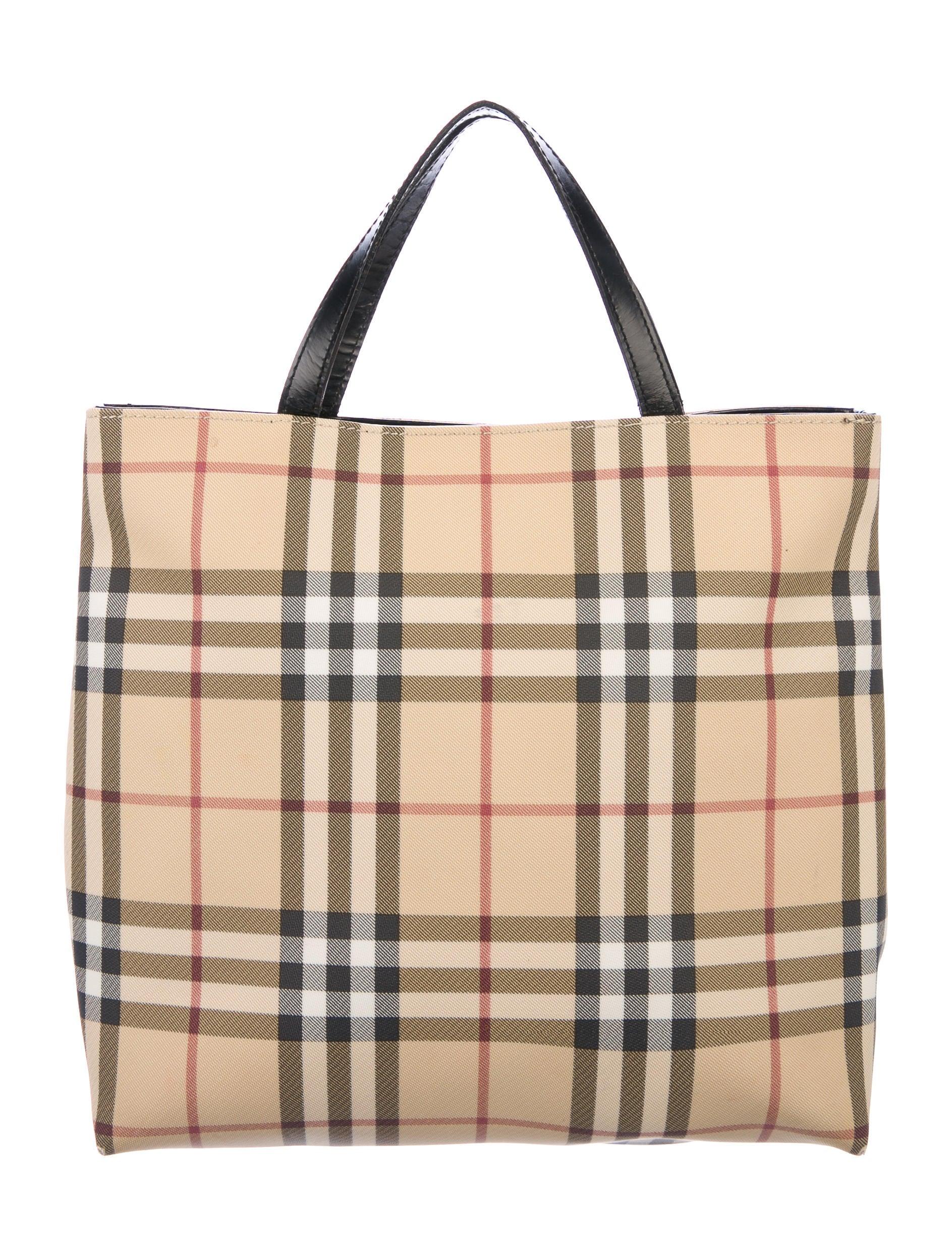 984f41b0a791 Burberry London Nova Check Tote - Handbags - WBURL29622