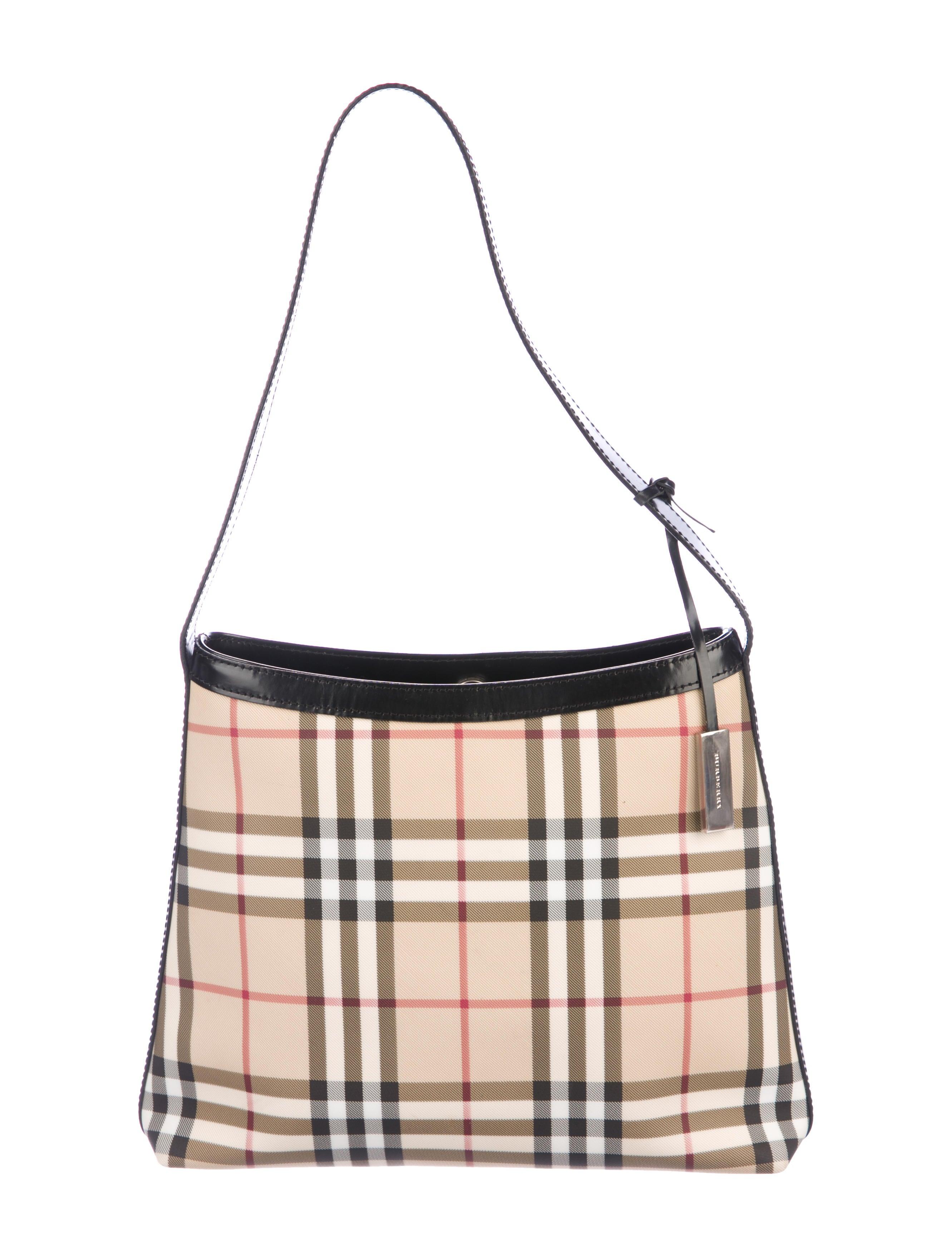 5d8b21df9226 Burberry London Nova Check Hobo - Handbags - WBURL32933