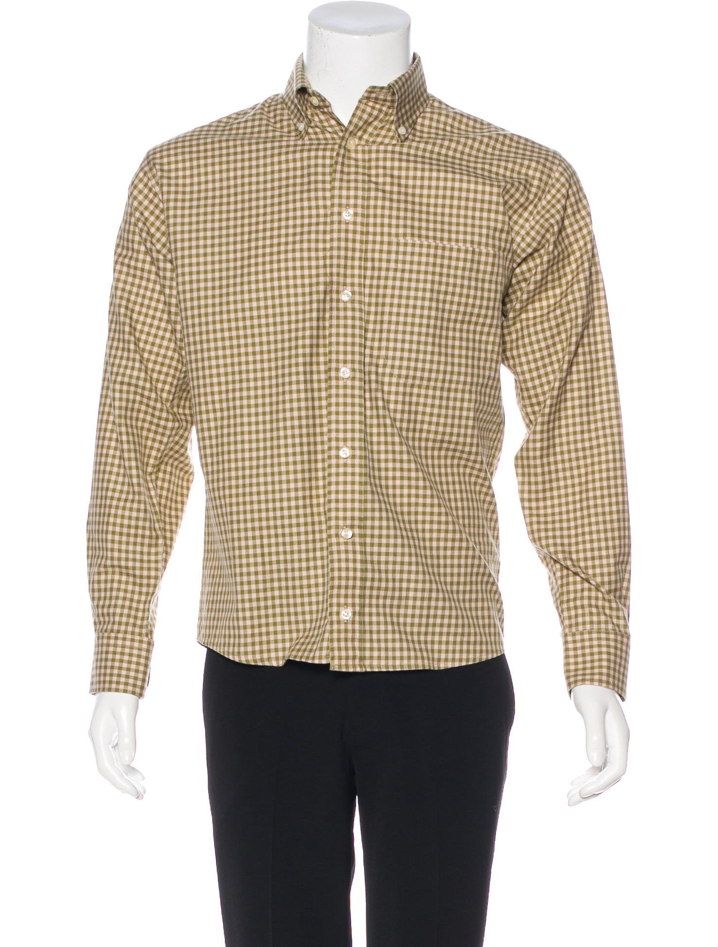 Burberry London Woven Check Shirt Mens Shirts Wburl33367 The