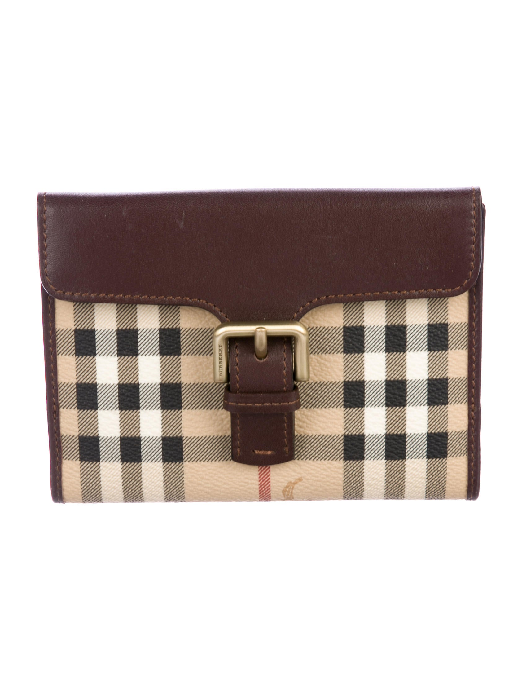 33de70f64725 Burberry London Haymarket Check Compact Wallet - Accessories ...