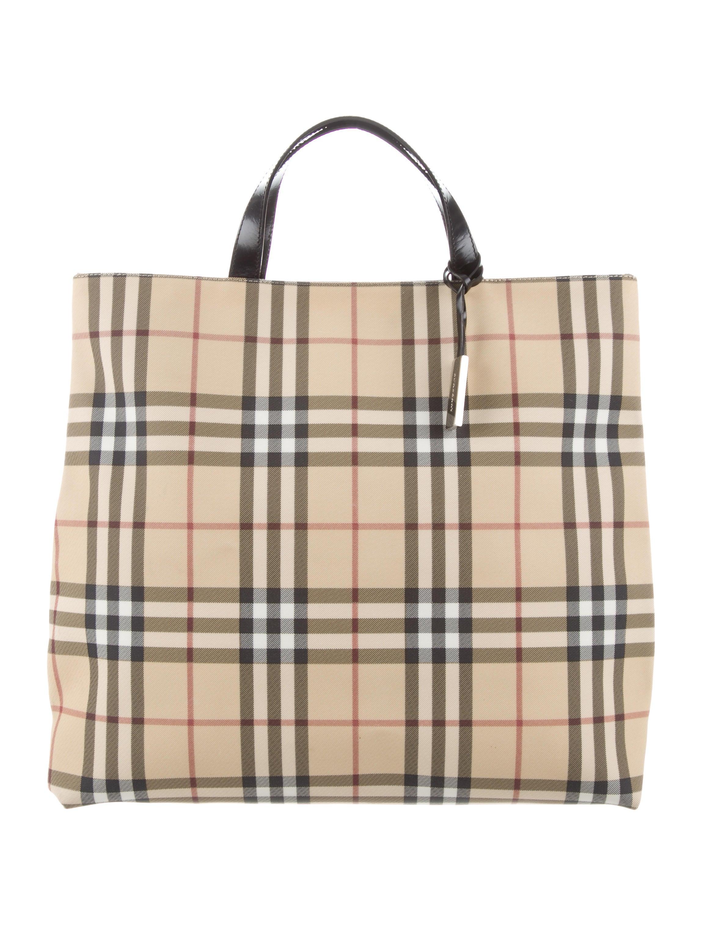 0d6be9772563 Burberry London Nova Check Tote - Handbags - WBURL36389