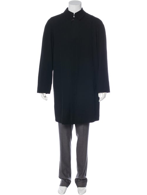 Burberry London Wool & Camel Hair Car Coat black