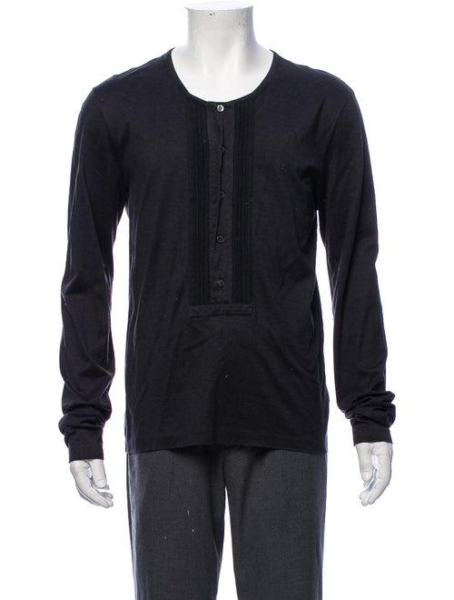 Burberry London Pleated Long Sleeve Shirt black