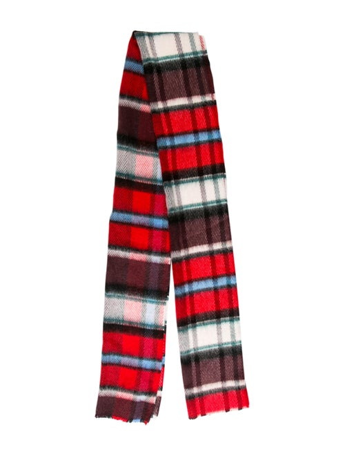 Burberry London Mohair Check Scarf Red