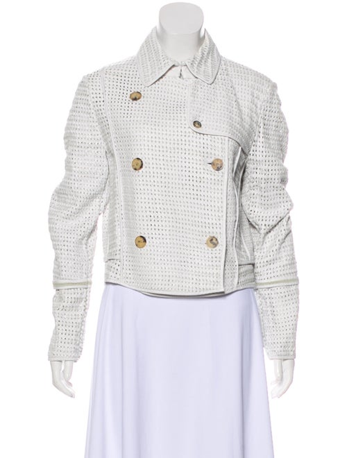 Burberry London Leather Jacket White