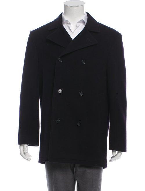 Burberry London Double-Breasted Wool Peacoat navy