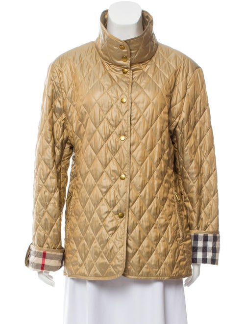 Burberry London Quilted Casual Jacket Tan