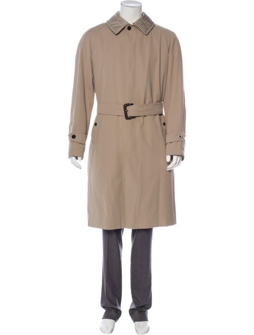 Burberry London Woven Trench Coat beige