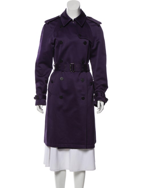 Burberry London Trench Coat Purple